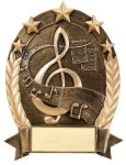 5 Star Oval -Music Music Trophies, Awards, Medals & Plaques