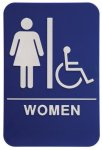 WOMEN ADA Sign & Wheelchair Stock and Custom ADA Signs