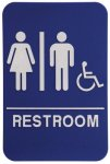 Unisex RESTROOM & Wheelchair ADA Sign - Copy Stock and Custom ADA Signs