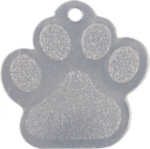 Stainless Steel Paw Print Pet Tag Street Tag Gifts