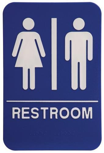Stock and custom ada signs for Unisex handicap bathroom sign